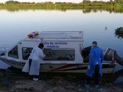 Por   aislamiento, chaqueños viajan  por agua para llegar a hospitales