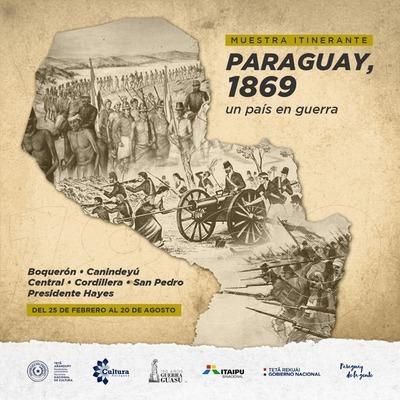 """Muestra itinerante """"Paraguay 1869, un país en guerra"""" visitará varios distritos del país"""