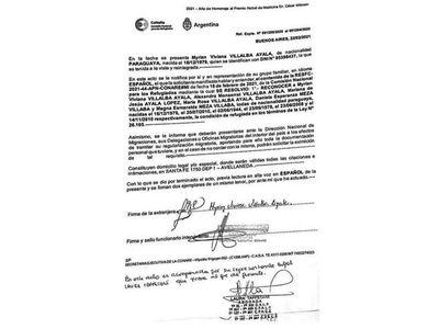 Argentina otorga refugio a hermanas de Carmen Villalba