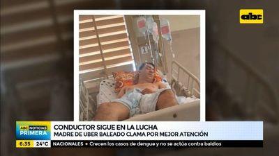 Madre de Uber baleado denuncia mala atención en el Hospital del Trauma