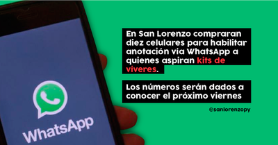 Víveres. Habilitarán números de WhatsApp que serán dados a conocer el viernes