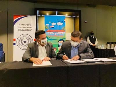 Ministro de Educación firmó convenio con el Consejo de Gobernadores del Paraguay