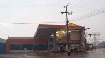 Temporal causo daños en Canindeyú