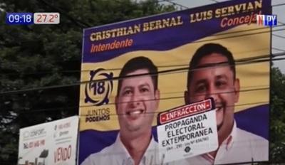 Fiscalía destruye propaganda electoral en Luque