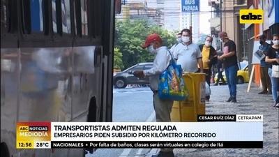 Cetrapam admite regulada y pide subsidio por kilómetro