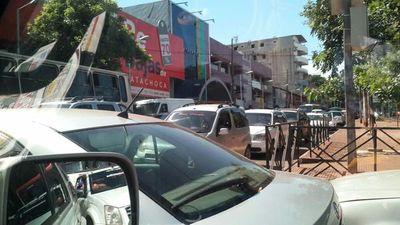 Aumenta el caos en el tránsito en CDE
