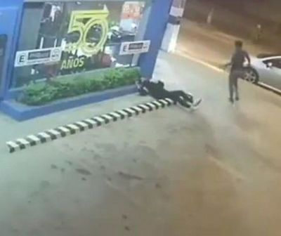 Brutal y cobarde ataque de un hombre a su expareja