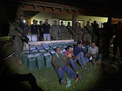 Allanamiento en el Chaco: casi 1.400 kilos de cocaína incautados y una decena de detenidos
