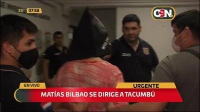 Crimen de Olga Feliciángeli: Matías Bilbao fue remitido al penal de Tacumbú