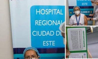 Denuncian que enfermera que no es de contingencia en CDE recibió vacuna anticovid