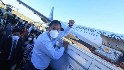 Bolivia recibió 500 mil dosis de la vacuna china Sinopharm contra el coronavirus