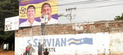 Destruyen propaganda electoral extemporánea en Luque y en Asunción