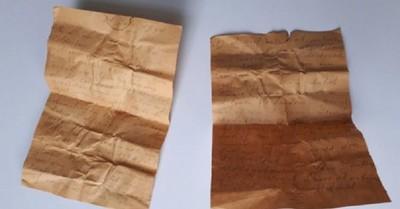 """El extraño """"mensaje al futuro"""" escrito en una carta de 1941 y que permanecía escondida en una iglesia"""