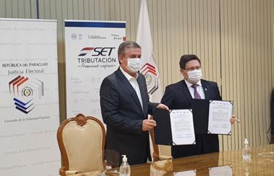 Tributación y TSJE firmaron convenio para control del financiamiento político