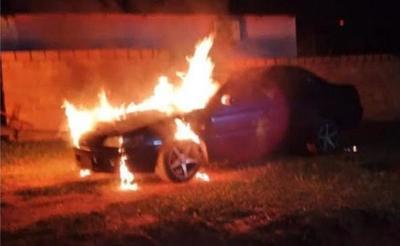 Vehículo de comunicador se incendió en Yhú – Prensa 5