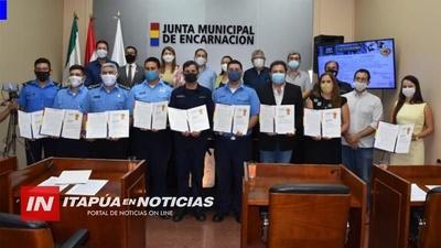 JUNTA MUNICIPAL RECONOCE CAMPAÑA VIAL VAMOS, VAMOS, VAMOS ENCARNACIÓN.