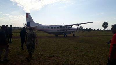 Vicepresidente Velázquez de campaña en avión de la Fuerza Aérea