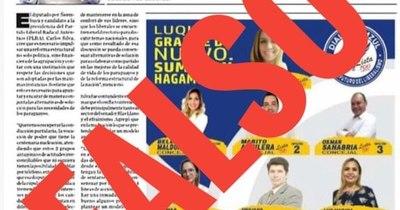 La Nación / LN aclara que en páginas no se divulga propaganda electoral