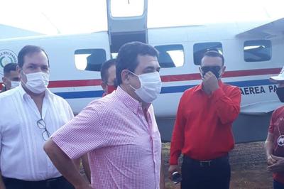 Vicepresidente Velázquez hace proselitismo con avión de la Fuerza Aérea