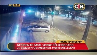 Joven delivery fallece en violento accidente sobre la Avda. Félix Bogado