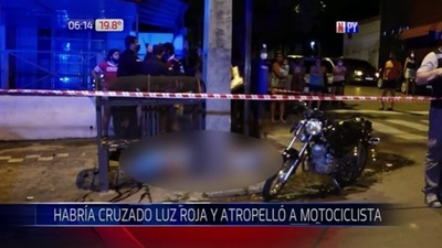 Motociclista muere tras ser embestido por conductor en estado etílico