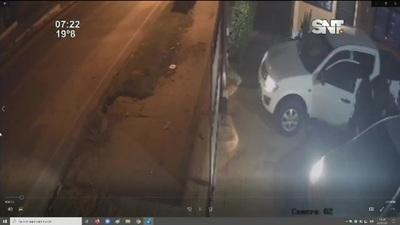 CCTV del momento que era asaltado el empresario