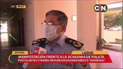 La Policía da su versión sobre reclamos de postulantes a la Academia