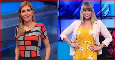 Sanie López Garelli y Pelusa Rubín en Miss Paraguay