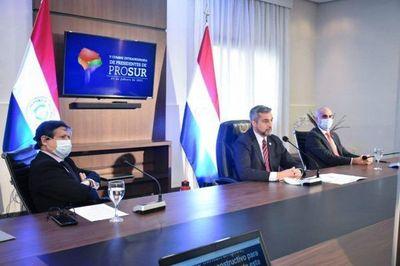 Mario Abdo pide el acceso equitativo de vacunas anti-Covid en cumbre Prosur