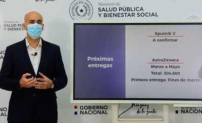 Paraguay recibirá 36.000 dosis de la vacuna AstraZeneca en la segunda quincena de marzo