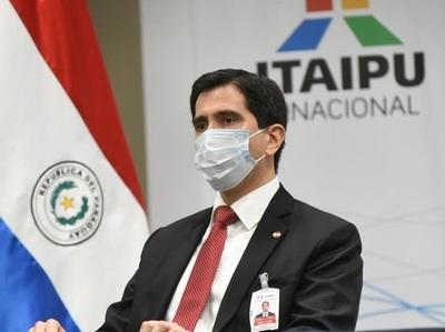 Director paraguayo de Itaipú aborda tema de vacunas contra el covid y transferencia de US4 203 millones a la ANDE