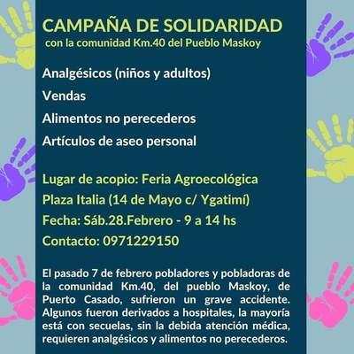 Campaña de solidaridad en la tradicional feria de La Red Agroecológica en Plaza Italia