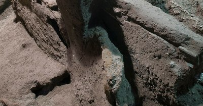 La Nación / Descubrimiento de un gran carro romano cerca de Pompeya en Italia