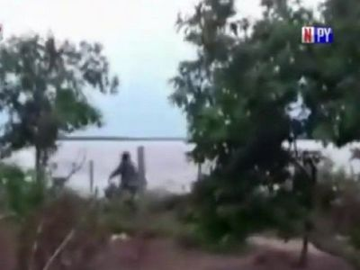 Enfrentamiento entre paseros y Policía argentina en Formosa