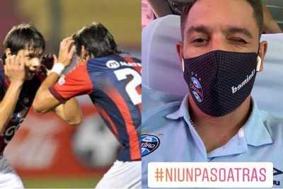 """Los """"Mellis"""" Romero y Diego Churín también se sumaron al """"Ni un paso atrás"""" en apoyo a Cerro Porteño"""