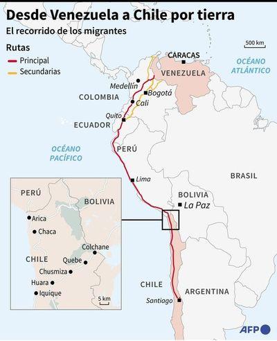 Cruzar el continente para huir del chavismo: éxodo venezolano no cesa