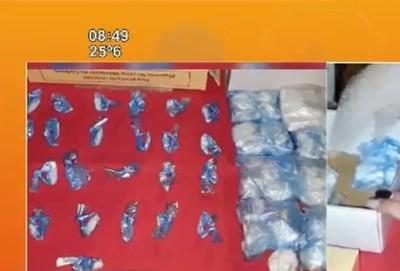 Hallaron droga en una bodega de Asunción