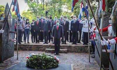 Mario Abdo participó de acto por el Día de los Héroes en Cerro Corá