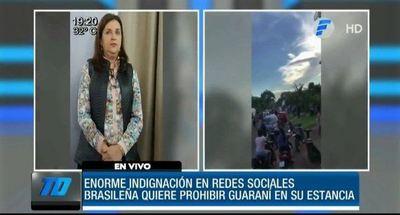 Brasileña que prohíbe uso del guaraní en su estancia será investigada por el Ministerio de Trabajo