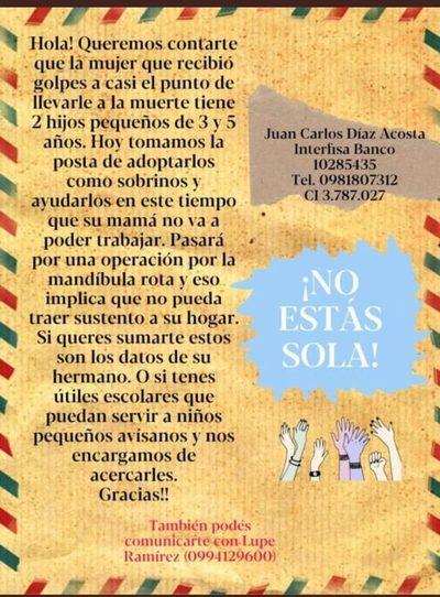 Impulsan campaña solidaria '¡No Estás Sola!' para ayudar a hijos de joven madre