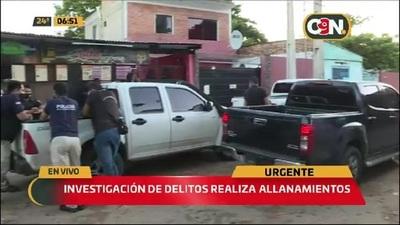 Departamento de Investigación de Delillos realiza allanamientos en la Chacarita