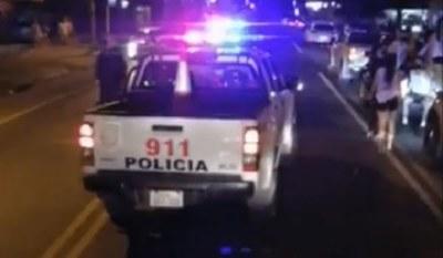 Policía interviene durante caravana de UPD de estudiantes