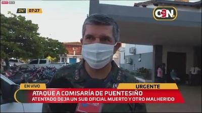 Brindan detalles sobre atentado a comisaría en Puentesiño