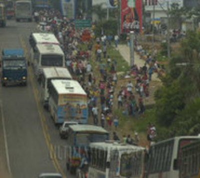"Caos vehicular en Caacupé a causa de ""Operativo Retorno"""