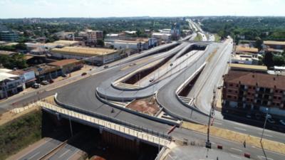 Multiviaducto de Ciudad del Este: Trabajos superan el 93 % y harán pruebas de luces