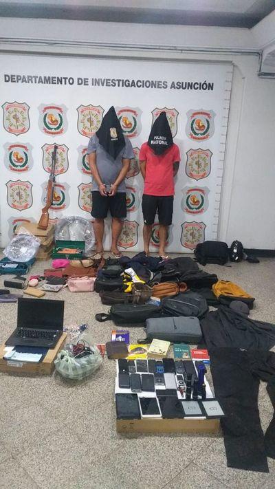 Dos aprehendidos con frondosos antecedentes por robo y supuesta tenencia de droga