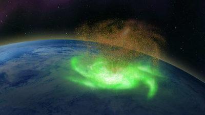 Observan por primera vez un huracán espacial sobre el Polo Norte