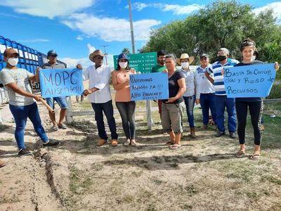En el Chaco, pobladores cierran caminos en espera de una respuesta del MOPC