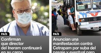 La Nación / Destacados de la mañana del 3 de marzo