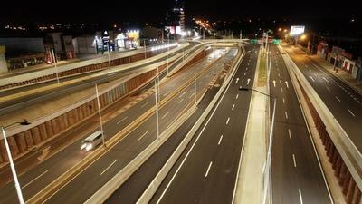 Realizan prueba de luces en puentes y colectoras del Multiviaducto de CDE